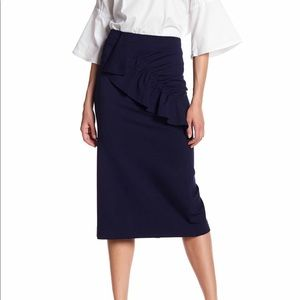 Tibi ruffled pencil skirt